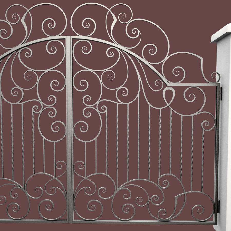 Wrought Iron Gate 30 royalty-free 3d model - Preview no. 14