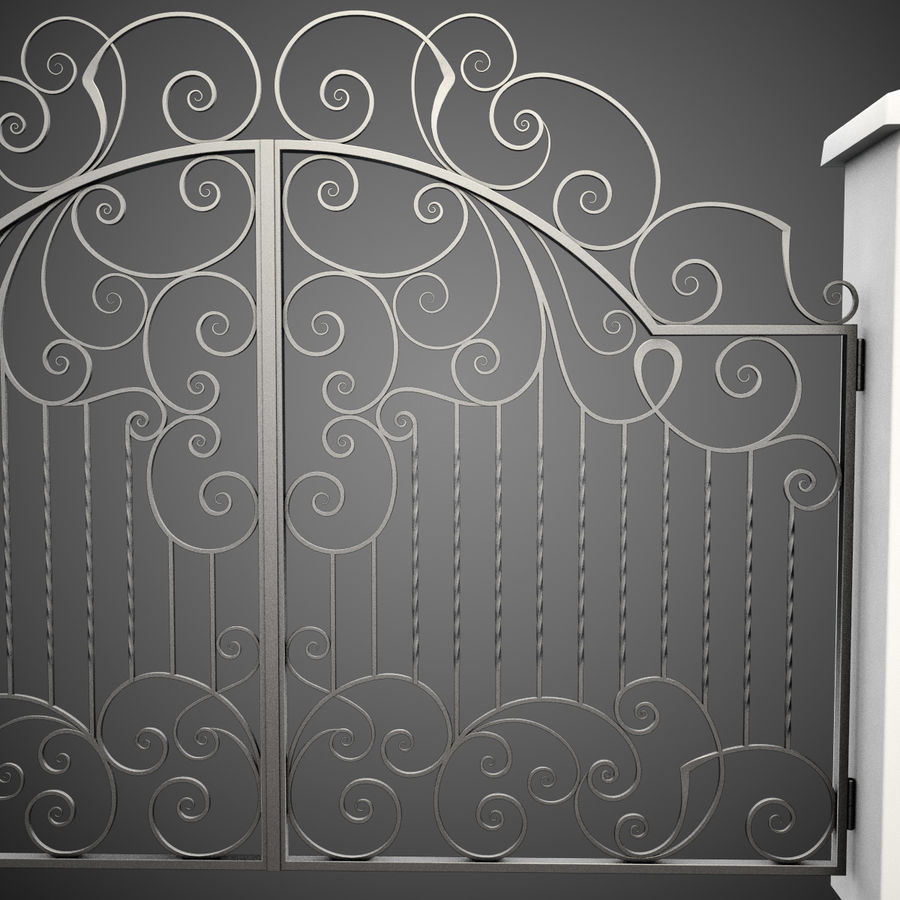 Wrought Iron Gate 30 royalty-free 3d model - Preview no. 8
