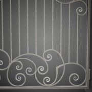 Wrought Iron Gate 30 3d model