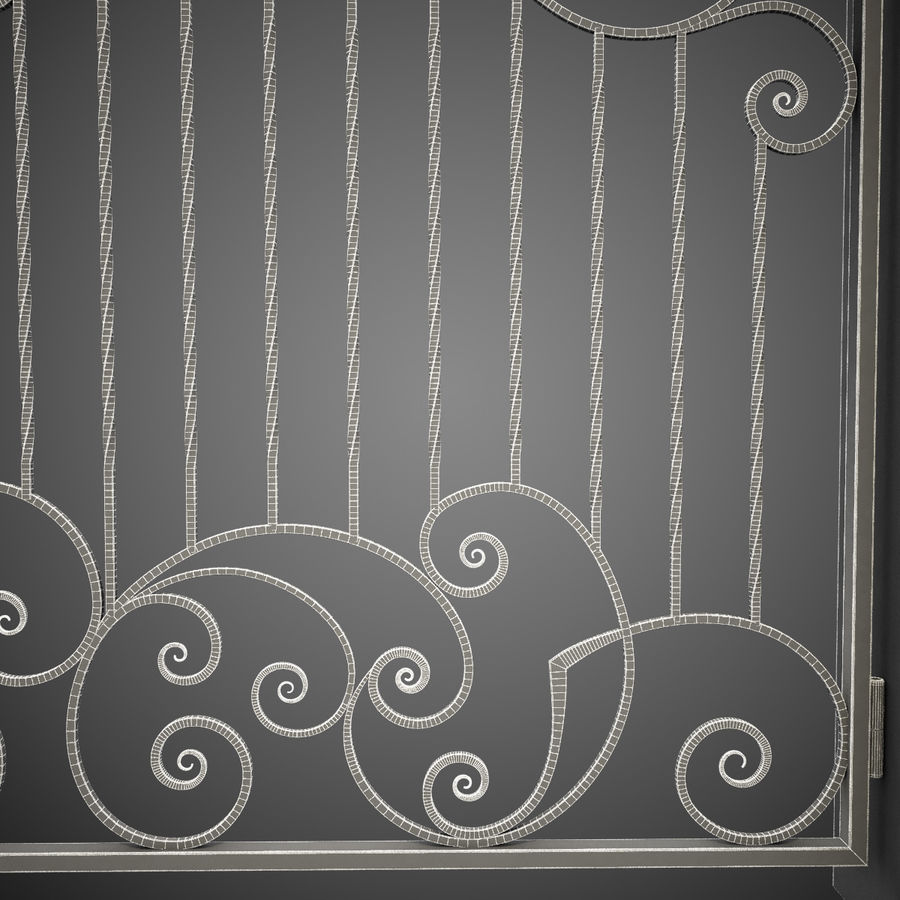 Wrought Iron Gate 30 royalty-free 3d model - Preview no. 1