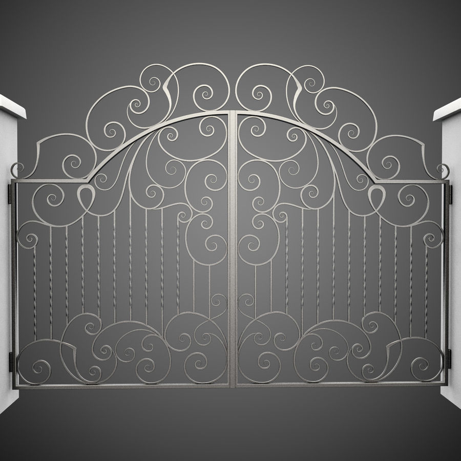 Wrought Iron Gate 30 royalty-free 3d model - Preview no. 4