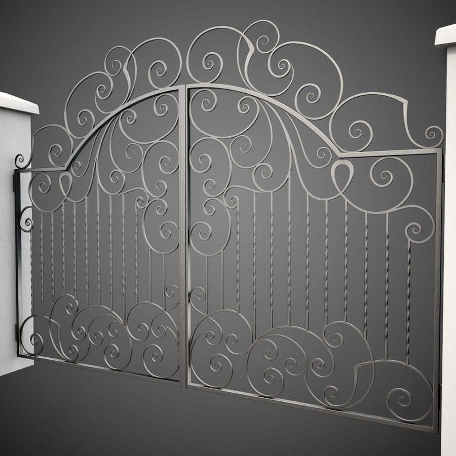 Wrought Iron Gate 30 royalty-free 3d model - Preview no. 5