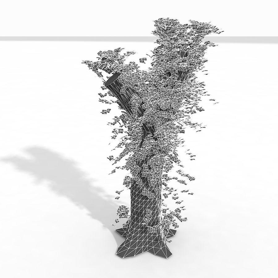 Coto de árvore coberto de Ivy royalty-free 3d model - Preview no. 11