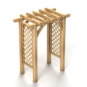 Wooden Arch 3d model