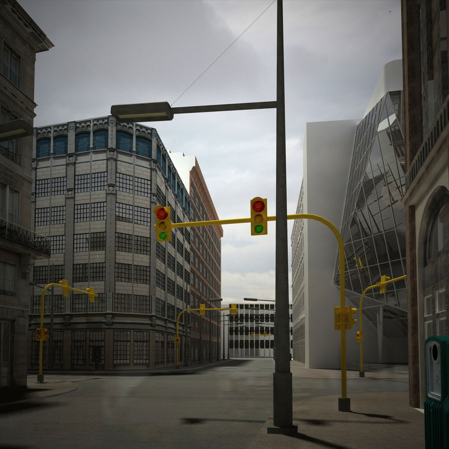 City scene royalty-free 3d model - Preview no. 4