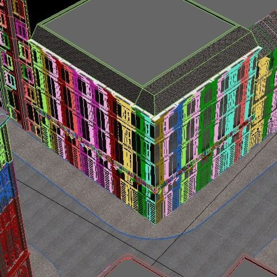 City scene royalty-free 3d model - Preview no. 9