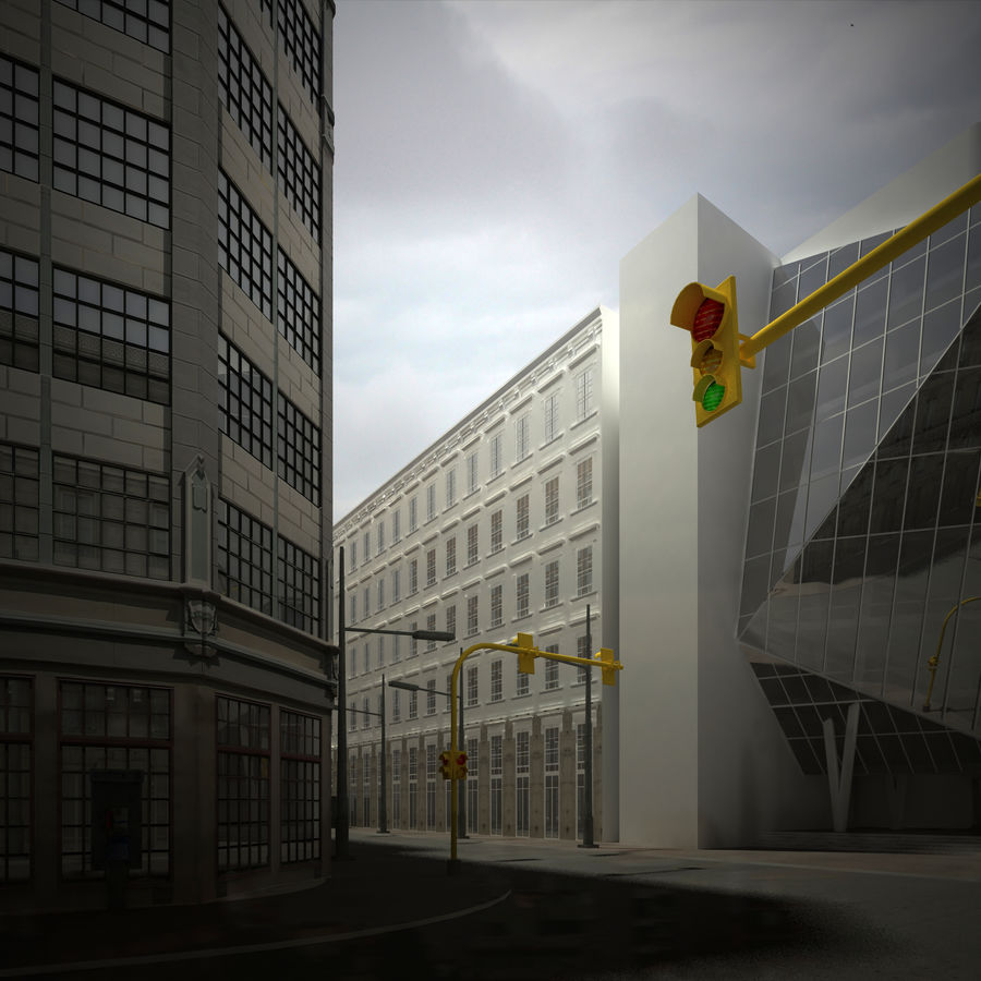 City scene royalty-free 3d model - Preview no. 5