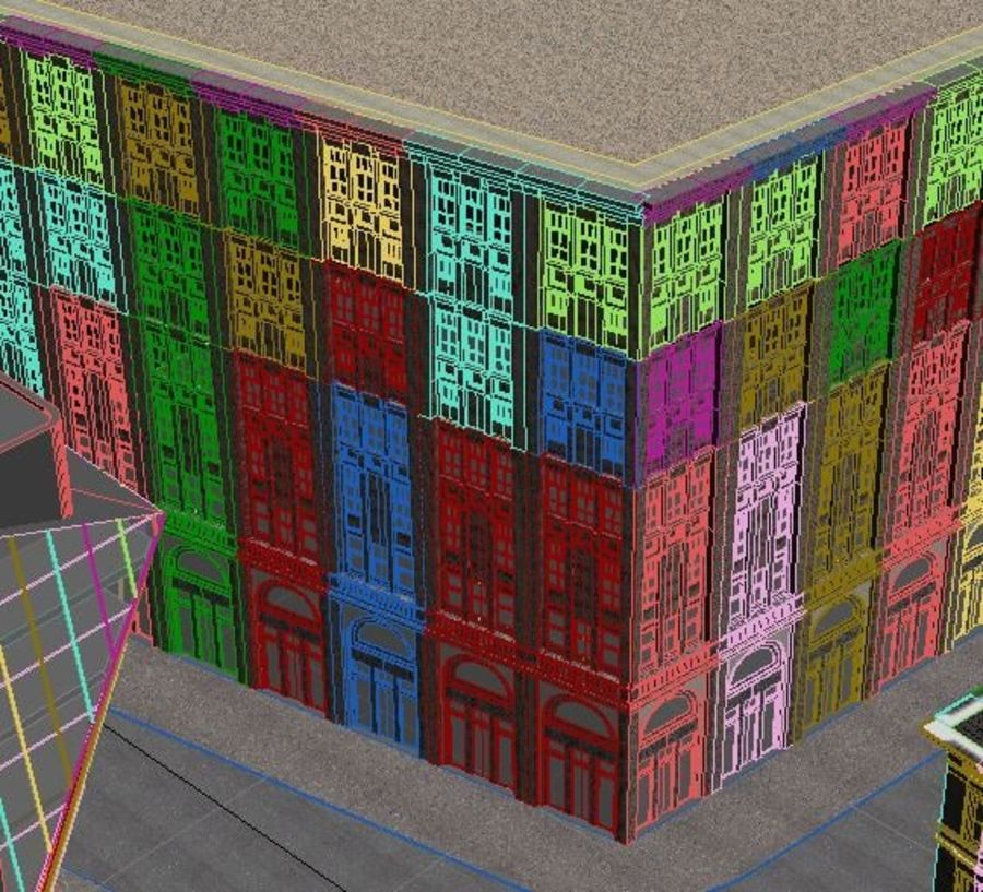 City scene royalty-free 3d model - Preview no. 6