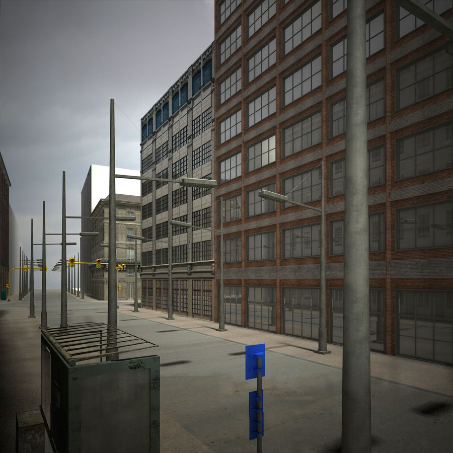 City scene royalty-free 3d model - Preview no. 2