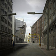 Scène de la ville 3d model