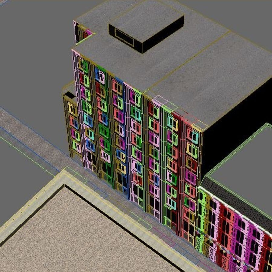 City scene royalty-free 3d model - Preview no. 11