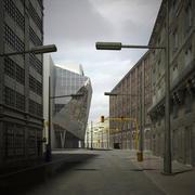 Escena de la ciudad modelo 3d