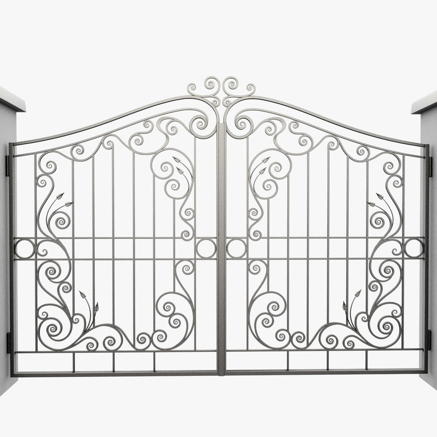 Wrought Iron Gate 31 royalty-free 3d model - Preview no. 4