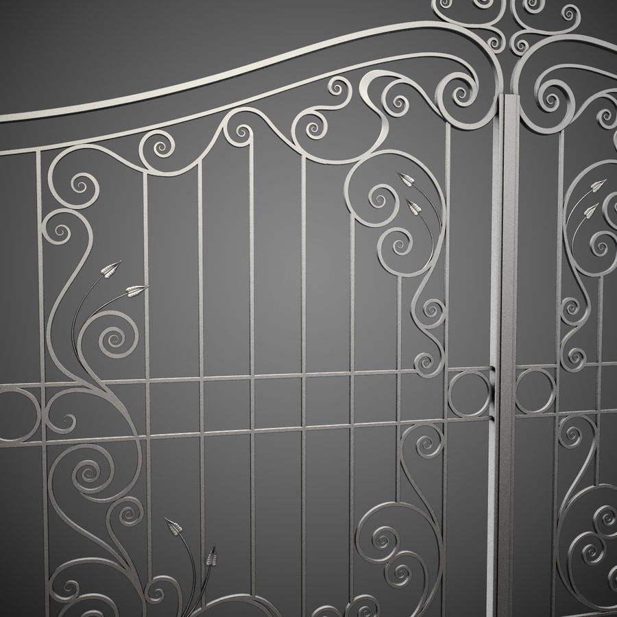 Wrought Iron Gate 31 royalty-free 3d model - Preview no. 9