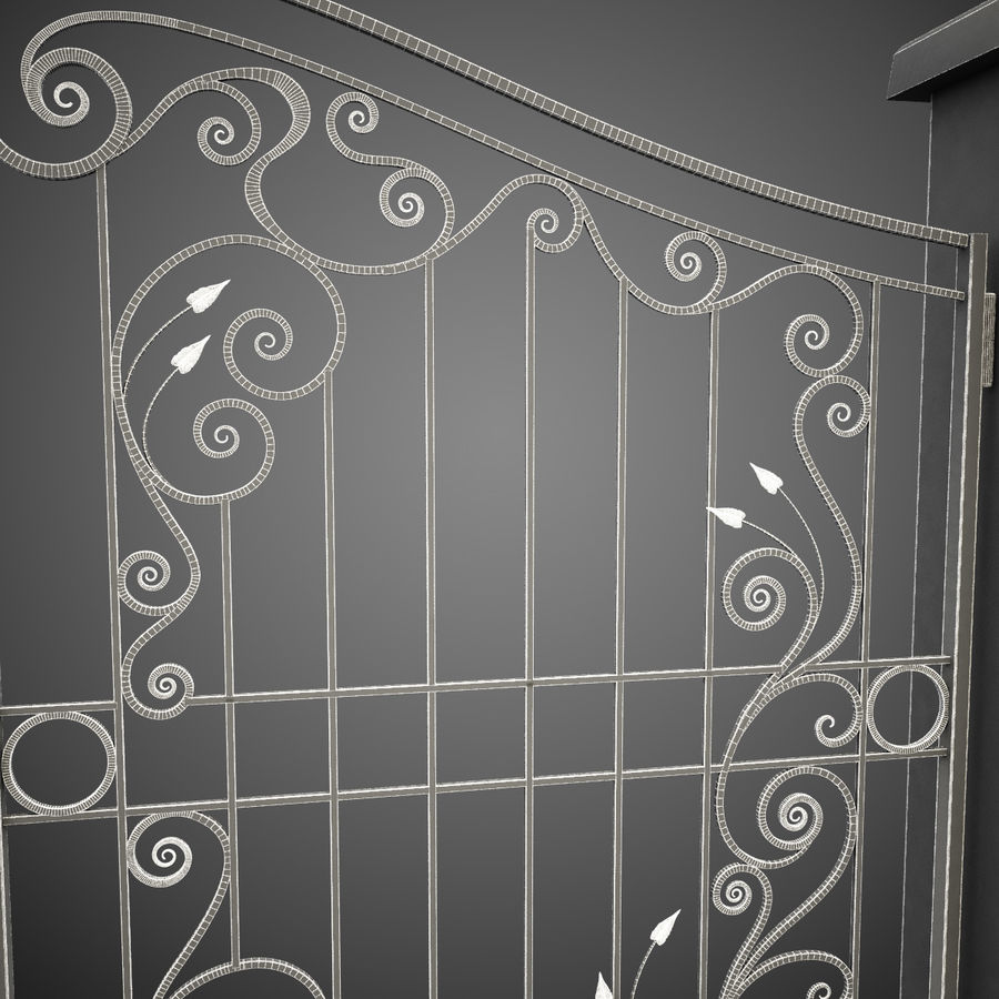 Wrought Iron Gate 31 royalty-free 3d model - Preview no. 2