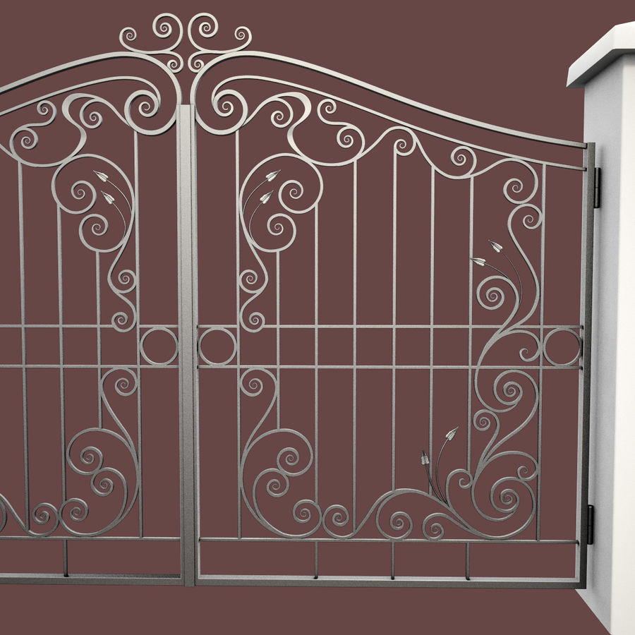 Wrought Iron Gate 31 royalty-free 3d model - Preview no. 11