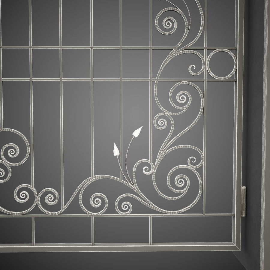 Wrought Iron Gate 31 royalty-free 3d model - Preview no. 1
