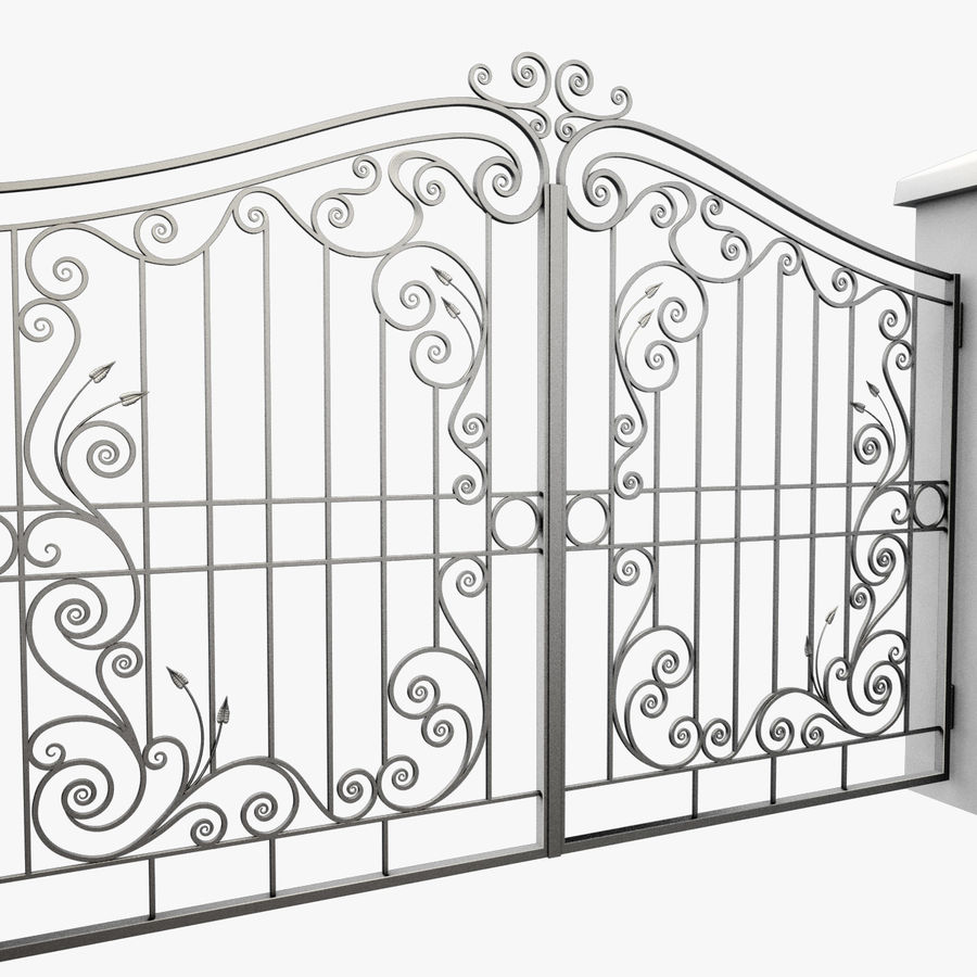 Wrought Iron Gate 31 royalty-free 3d model - Preview no. 8