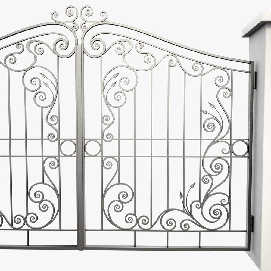 Wrought Iron Gate 31 royalty-free 3d model - Preview no. 10