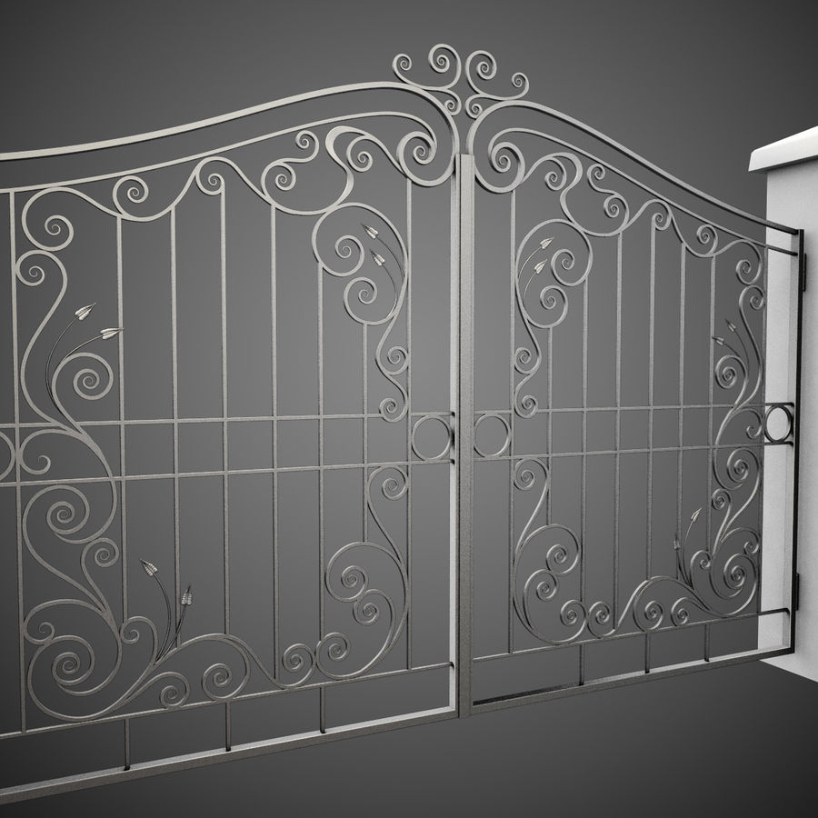 Wrought Iron Gate 31 royalty-free 3d model - Preview no. 6