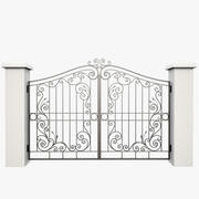 Wrought Iron Gate 31 3d model