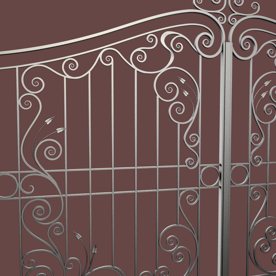 Wrought Iron Gate 31 royalty-free 3d model - Preview no. 12