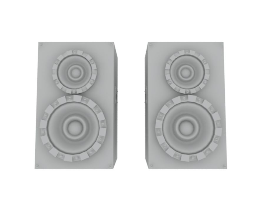 Speakers Colum High Poly royalty-free 3d model - Preview no. 13