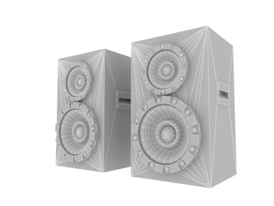 Speakers Colum High Poly royalty-free 3d model - Preview no. 11
