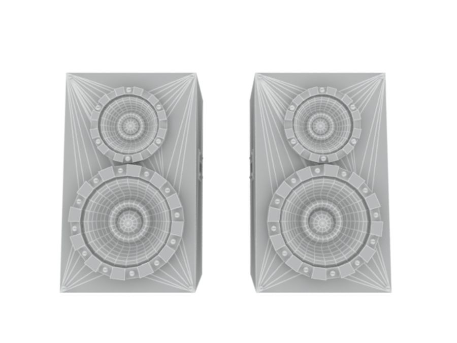 Speakers Colum High Poly royalty-free 3d model - Preview no. 12
