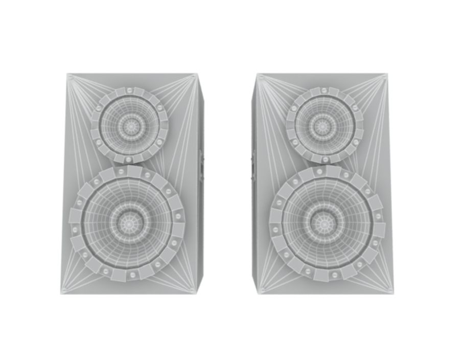 Speakers Colum High Poly royalty-free 3d model - Preview no. 2