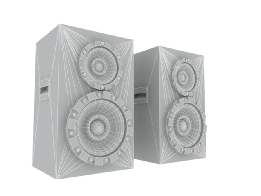 Speakers Colum High Poly royalty-free 3d model - Preview no. 3