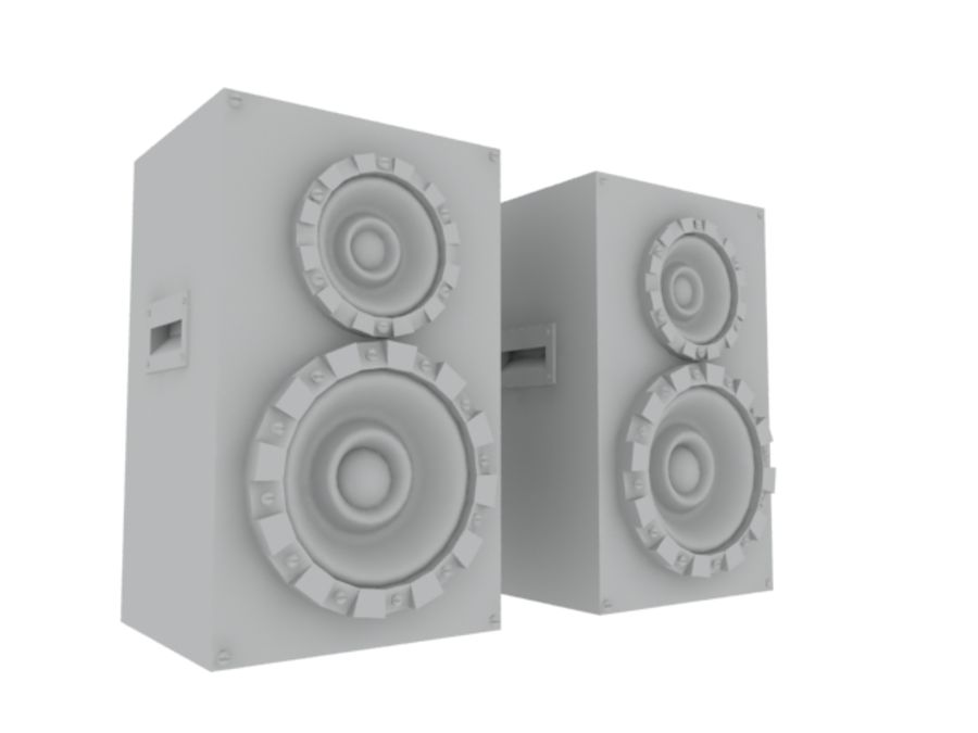 Speakers Colum High Poly royalty-free 3d model - Preview no. 14