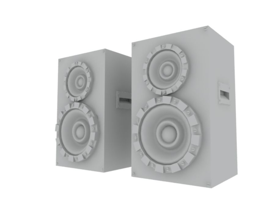 Speakers Colum High Poly royalty-free 3d model - Preview no. 22