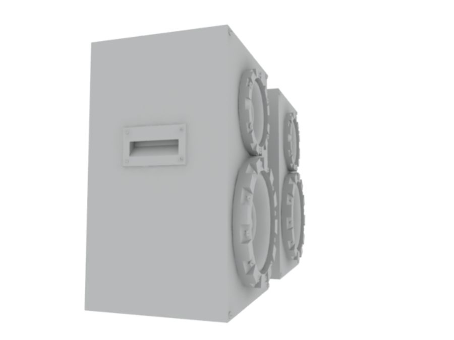 Speakers Colum High Poly royalty-free 3d model - Preview no. 15