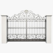 Wrought Iron Gate 24 3d model