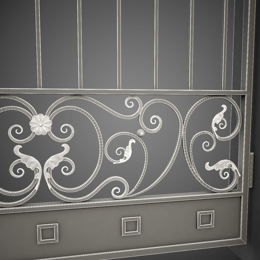 Wrought Iron Gate 24 royalty-free 3d model - Preview no. 14