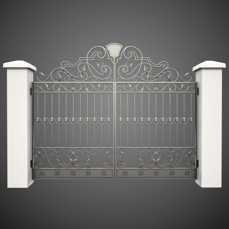 Wrought Iron Gate 24 royalty-free 3d model - Preview no. 1
