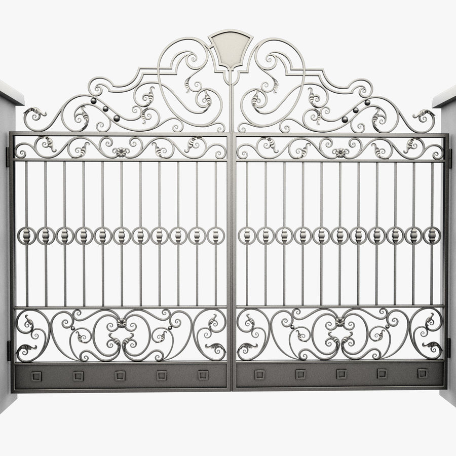 Wrought Iron Gate 24 royalty-free 3d model - Preview no. 6