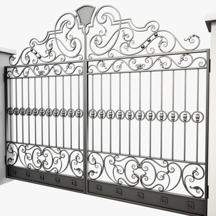 Wrought Iron Gate 24 royalty-free 3d model - Preview no. 8