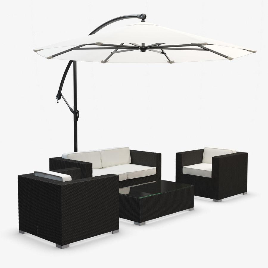 Arredo Esterno Rattan Sintetico.Mobili Da Giardino Con Sunbrella Rattan Sintetico Modello 3d 28