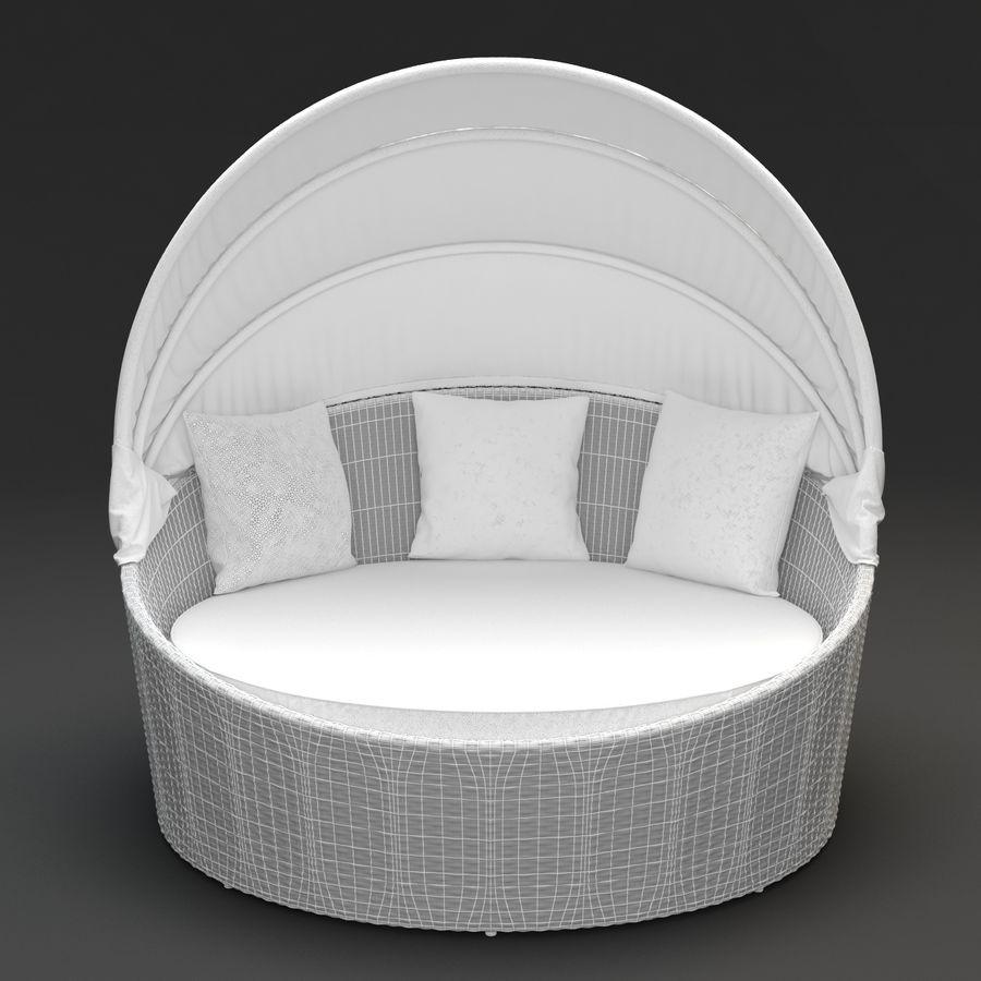 Tavolo Da Giardino Rattan Allungabile.Siesta Daybed Mobili Da Giardino In Rattan Sintetico Modello 3d