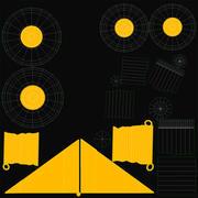 Zone de loisirs aéronautique radiocommandée 3d model