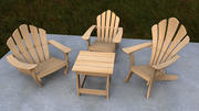 Adirondack Chairs Rigged 3d model