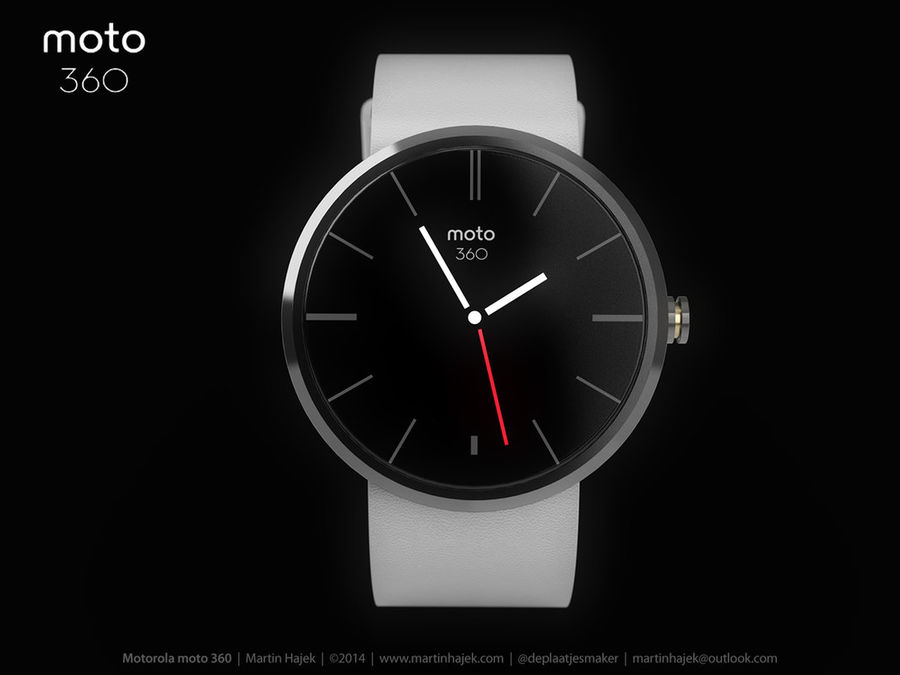 Motorola moto360 leather + NURBS royalty-free 3d model - Preview no. 5