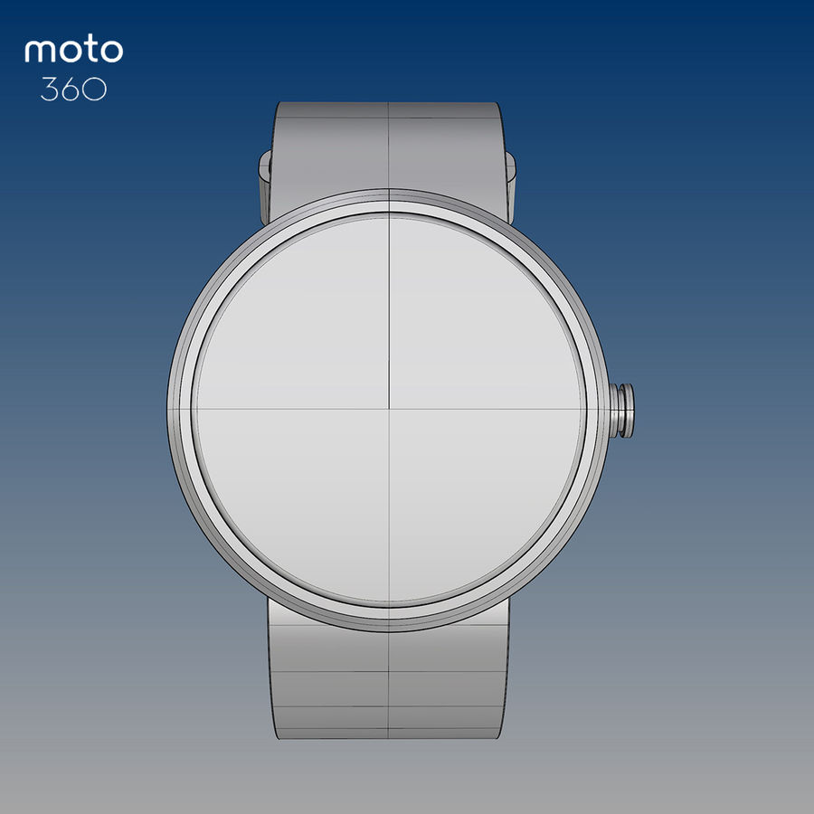 Motorola moto360 leather + NURBS royalty-free 3d model - Preview no. 2