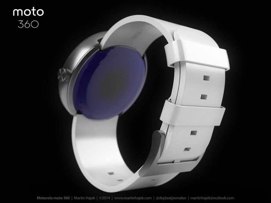 Motorola moto360 leather + NURBS royalty-free 3d model - Preview no. 9