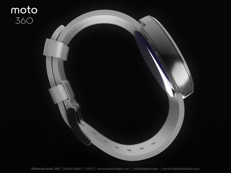 Motorola moto360 leather + NURBS royalty-free 3d model - Preview no. 12