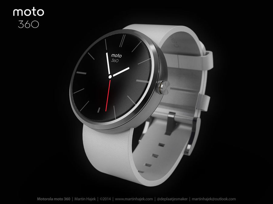 Motorola moto360 leather + NURBS royalty-free 3d model - Preview no. 3