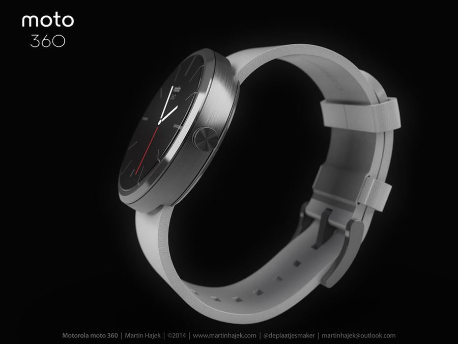 Motorola moto360 leather + NURBS royalty-free 3d model - Preview no. 7
