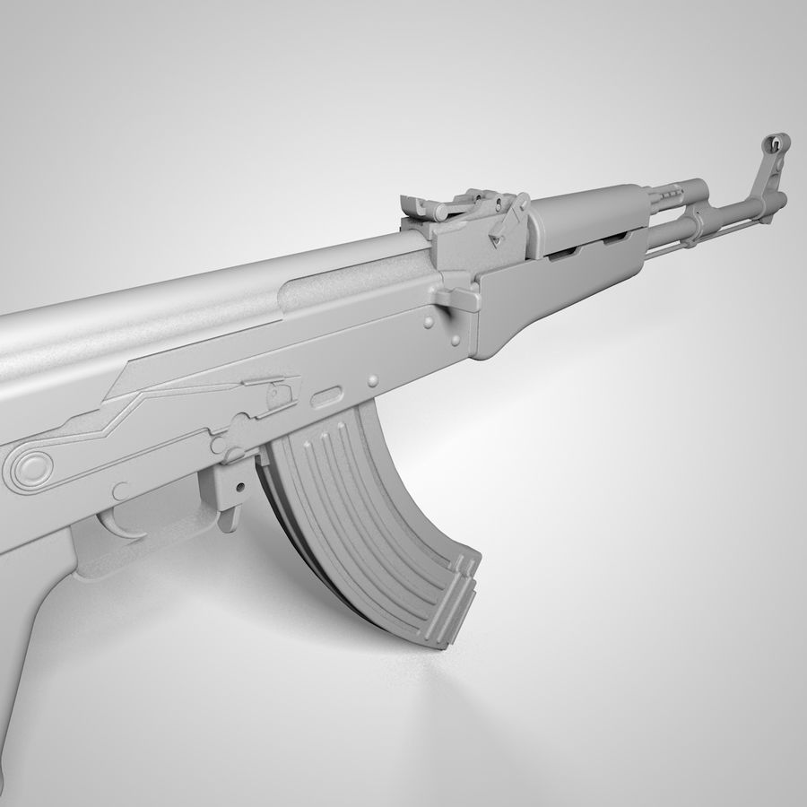 Type 56-1 assault rifle royalty-free 3d model - Preview no. 8